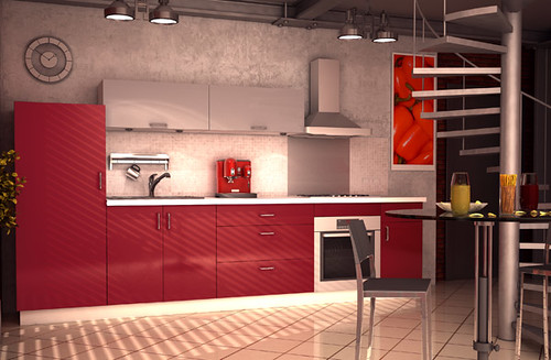 cuisine quip e rouge mod le origin gaspacho la cuisine flickr. Black Bedroom Furniture Sets. Home Design Ideas