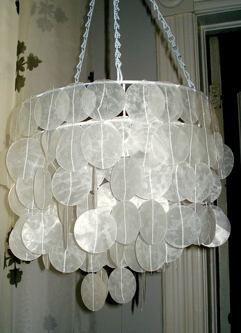 Faux capiz shell chandelier blogged here niftythriftygirl flickr niftythriftygirl faux capiz shell chandelier by niftythriftygirl aloadofball Images