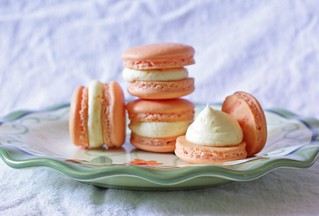 plate of macarons | by Madison Bistro