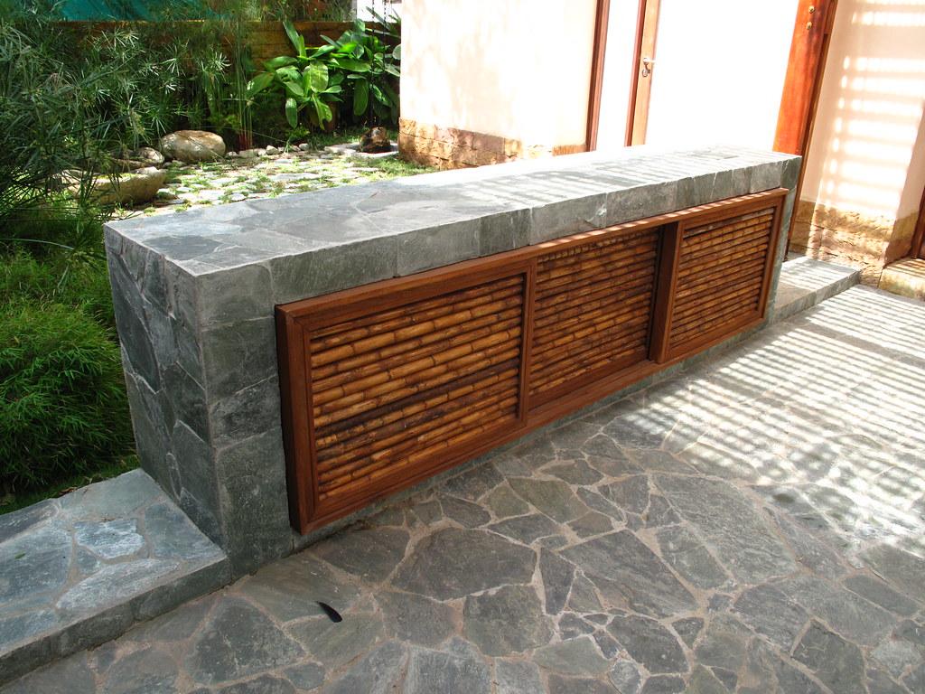 Detalle Mueble de Exterior en Piedra, Madera y Cañabrava   Flickr