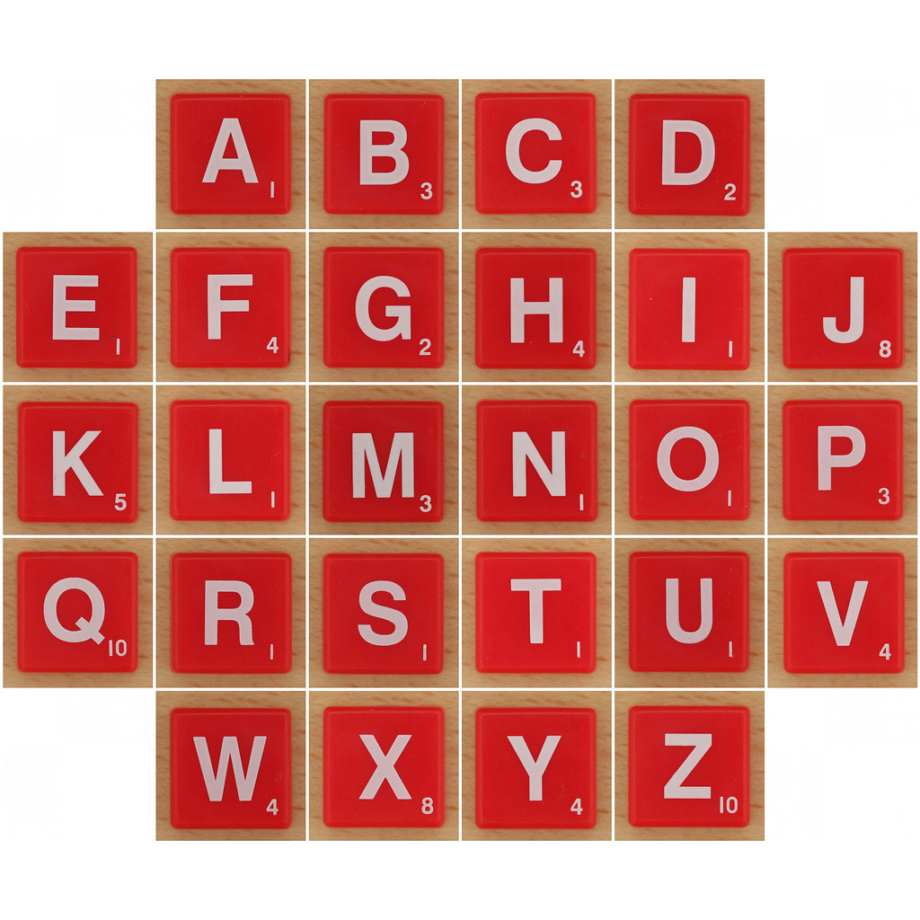 Scrabble Magnets Alphabet Set by XOHandworks on Etsy
