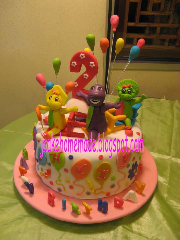 Barney birthday cake Happy 2nd birthday Ashley Thanks Viv Flickr