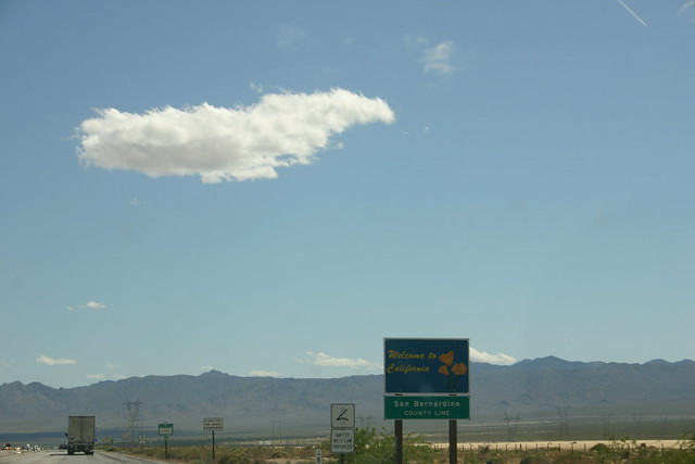 California desert and Barstow