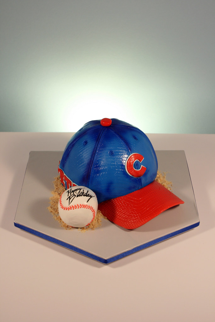 Chicago Cubs Baseball Hat Birthday Cake Hat Personalized W Flickr