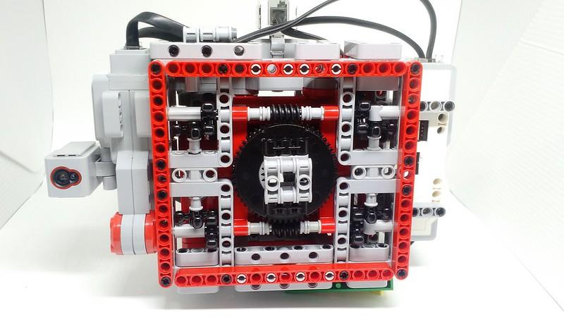 Base do robô e detalhe das estruturas