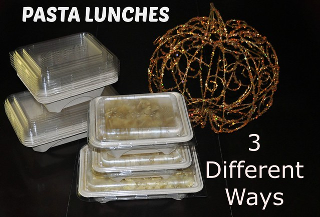Pasta Lunches 3 Different Ways