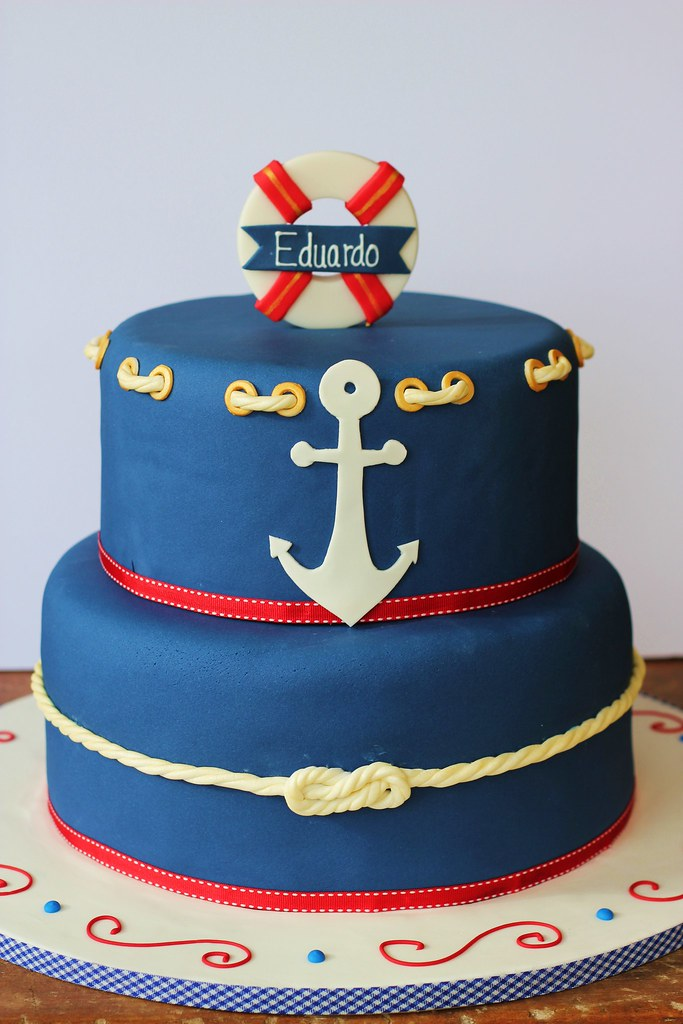Nautical Birthday Cake Isa Flickr