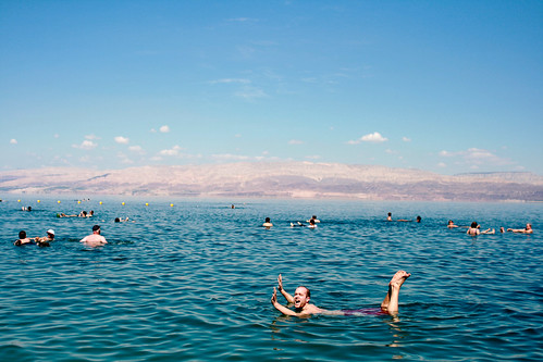 Swimming in the Dead Sea | by Christian Haugen