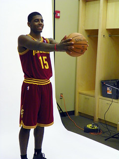 2011 #1 Pick Kyrie Irving Poses in His new Cavs Uni | by Cavs History