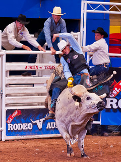 Bull Rider, Rodeo Austin | by DaveWilsonPhotography