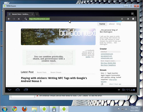Android Browser Emulator - Windows 7, Nexus S, Xoom Tablet | by hedrinbc