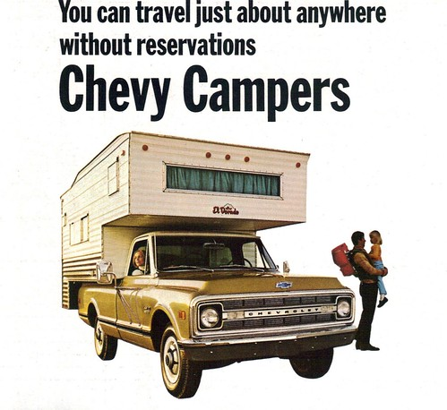 1970 Chevrolet Pickup Truck with Camper | by coconv