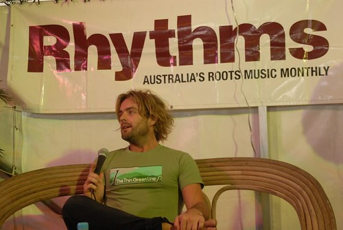 Xavier Rudd, Rhythms Q&A, Bluesfest | by KT Bell