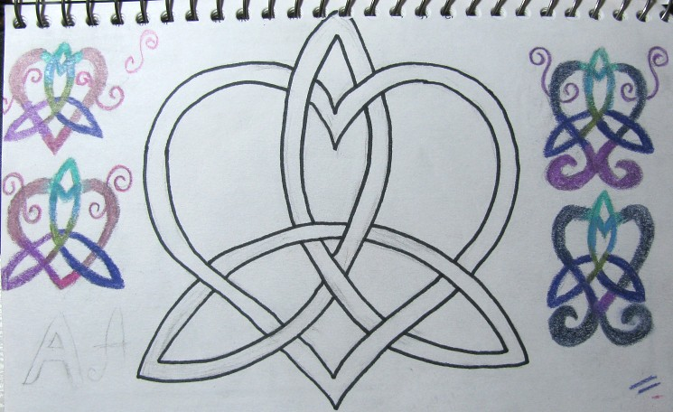 Celtic Knot Sketches This Month My Elfsister And I Are Doi Flickr