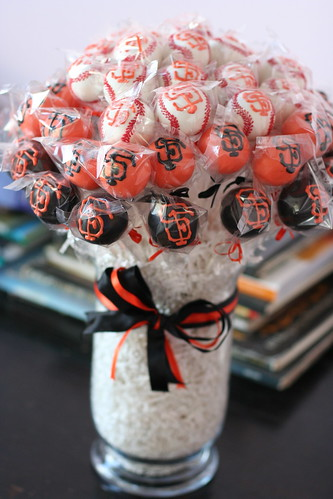 SF Giants Cake Pop Bopuquet | by Sweet Lauren Cakes