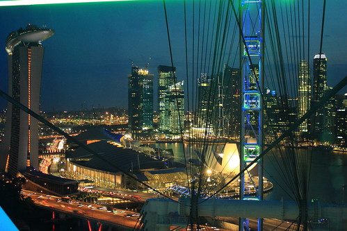 view from singapore flyer | by coloured glass