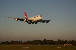 QANTAS A380 lands and Melbourne Airport | by Christopher Neugebauer