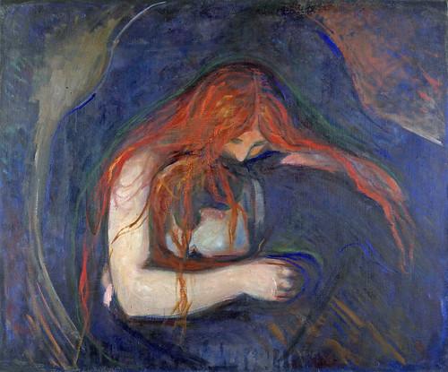 Vampire -Edvard Munch high quality hand-painted oil ...   Vampire Edvard Munch