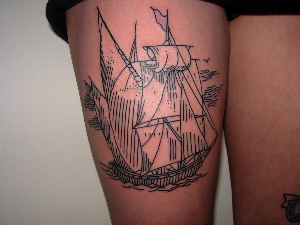 An Interesting Ship Tattoo Friendlyneanderthal Flickr