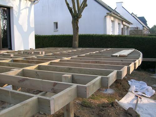 structure terrasse pilotis rennes 35 bois expo flickr. Black Bedroom Furniture Sets. Home Design Ideas