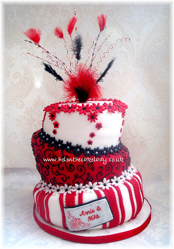 topsy turvy ruby wedding anniversary cake a topsy cake des flickr
