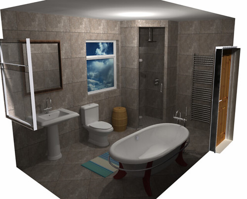 Roca elliptico bathroom render leeds for Bathroom design leeds