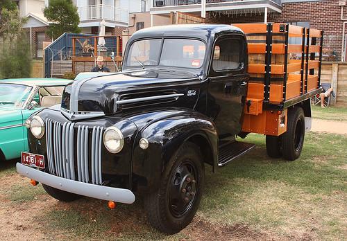 1946 ford jailbar truck at the bonbeach car show flickr. Black Bedroom Furniture Sets. Home Design Ideas
