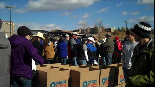 Beta Alpha Psi at 9Cares Colorado Shares Food Drive | by MyCUBoulder