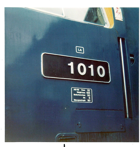 "D1010 without the ""D"" during BR days not preservation 