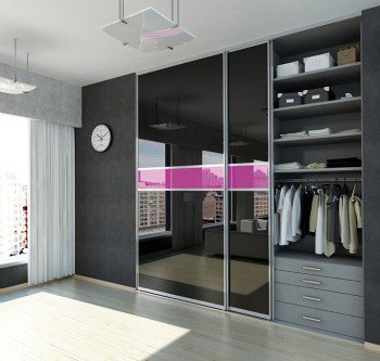 black and pink bedroom by wardrobedesign