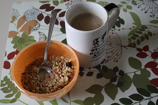 Kashi summer berry granola; coffee | by lisalivingwell