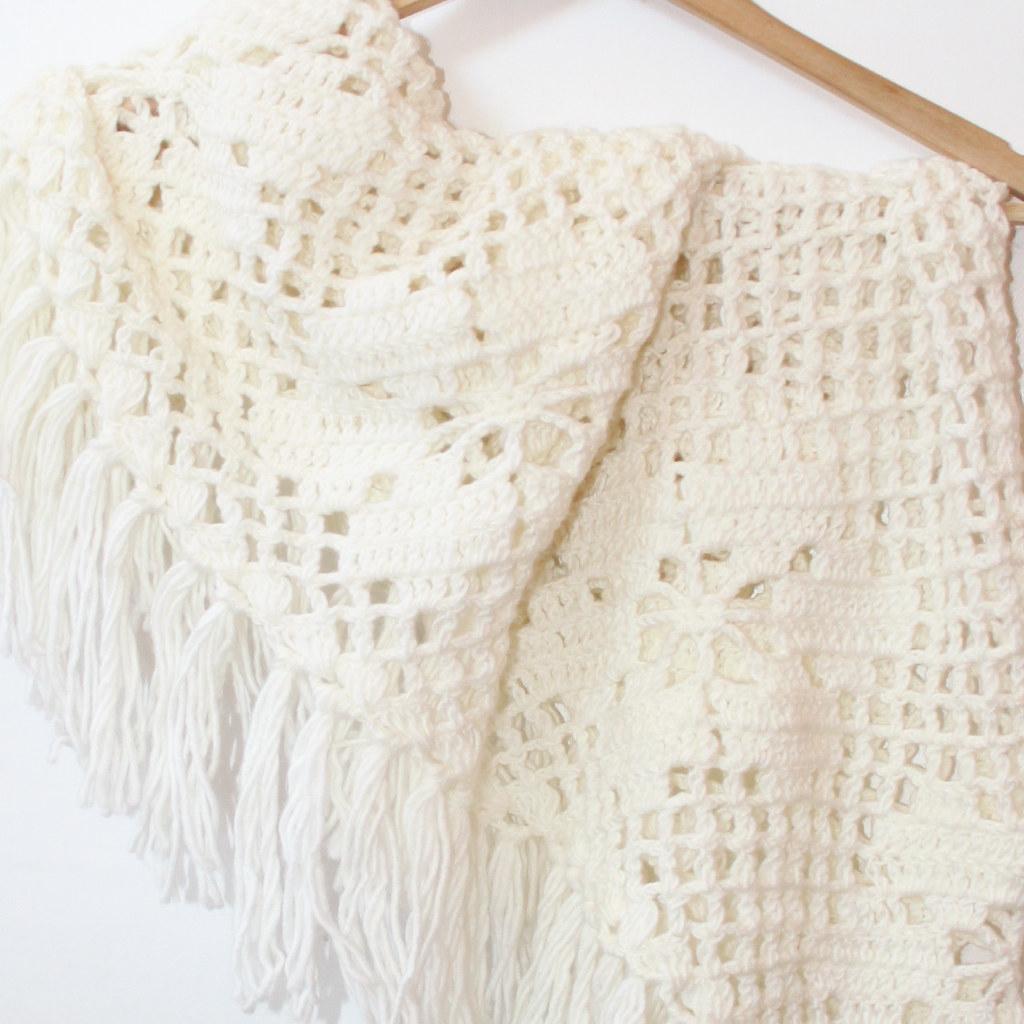 Vintage Crochet Shawl 7 Lovewornvintage Flickr