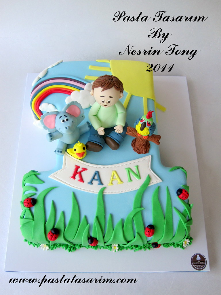 KAAN 1ST BIRTHDAY CAKE KAAN BLUE ELEPHANT AND PARROT Flickr
