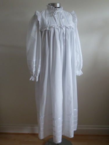 Victorian Cotton Amp Lace Befrilled Nightgown Full Length Fr