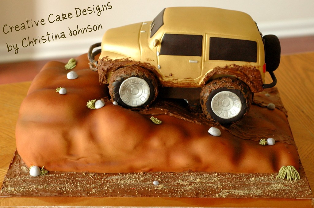 Jeep Wrangler Grooms Cake Chocolate cake carved to look l Flickr