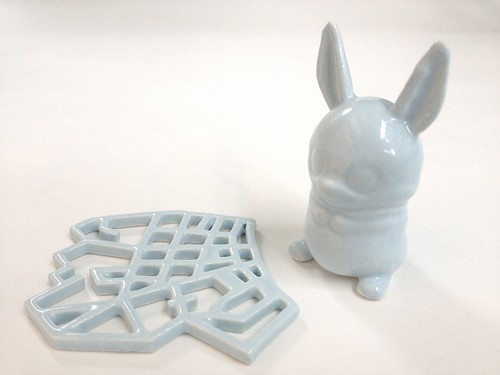Eggshell Blue 3D Printed Ceramics at Shapeways | by Shapeways: