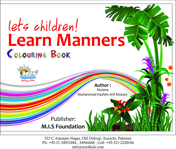 Learn Manners Coloring Book English