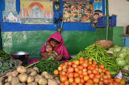 Young veg seller.  Badami | by Claire Pismont