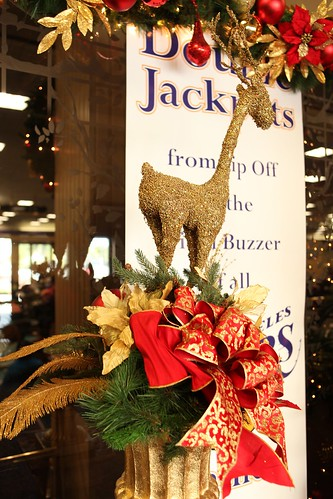 Christmas centerpieces large gold reindeer centerpiece