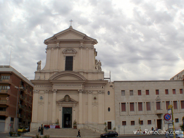 St Francis Church in Civitavecchia