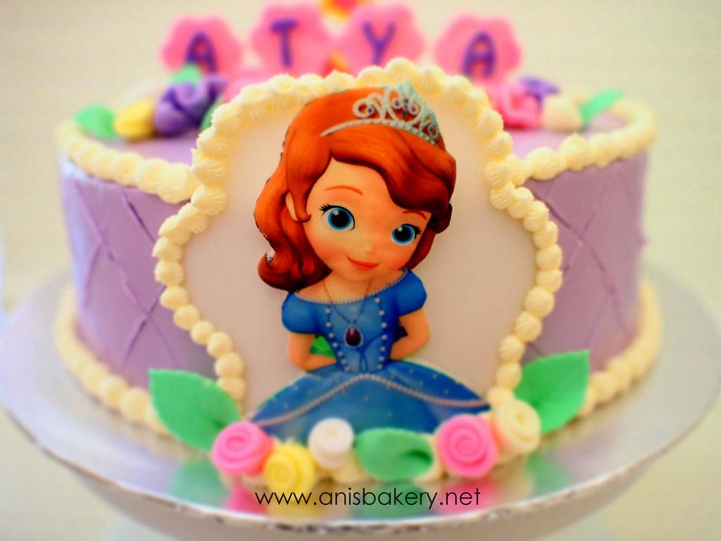 Sofia The First Birthday Cake Anisbakery Anisbakery Flickr