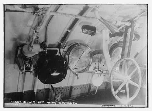 U.S. Submarine diving wheel & depth charges  (LOC) | by The Library of Congress