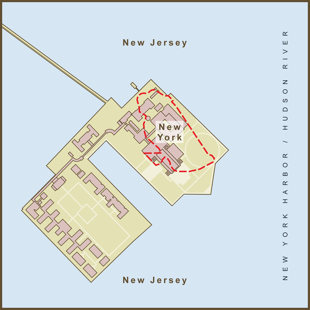 A Map of the Border Between New York & New Jersey on Ellis… | Flickr
