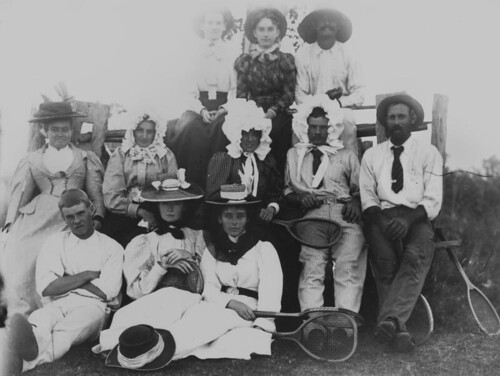 Tennis party at Mount Alma Station. 1890s | by State Library of Queensland, Australia