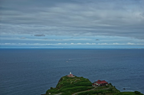 ホテルノイシュロス小樽から見た日和山灯台とニシン御殿