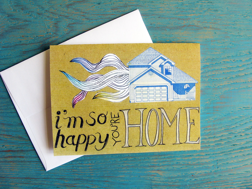 Welcome home greeting card keely obrien flickr welcome home greeting card by kiss me go m4hsunfo
