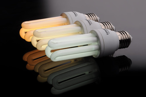 Three energy saving light bulbs | by Anton Fomkin
