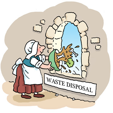 Image result for middle age waste disposal