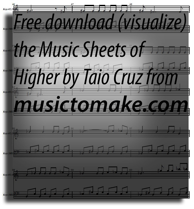 Taio cruz ft. Kylie higher (new edition + download free file.