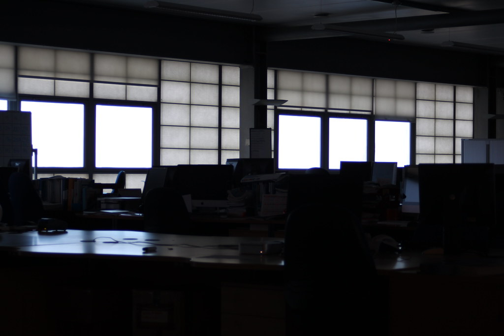 Dark office cubed | 7.45am and not a soul about! | Mark ...